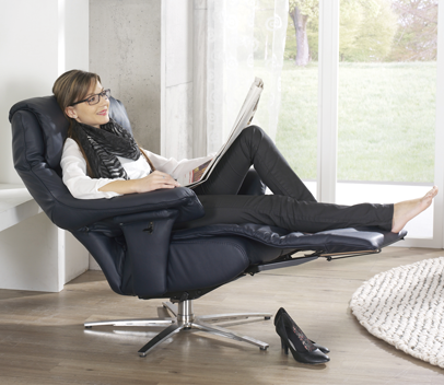 bequemer Relaxsessel aus Leder