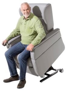 Homecare-Sessel NF platin Aufstehhilfe